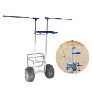 Outdoor Durable Beach Trolley Cart Foldable Fishing Trolley Cart